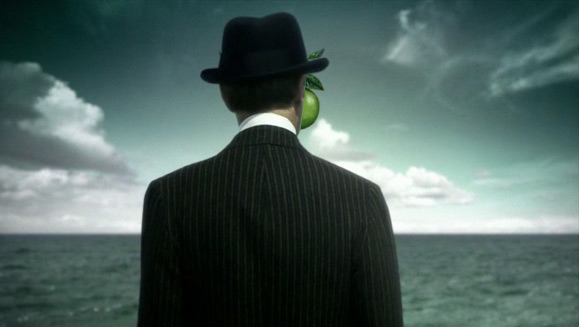 Son of man rear view. Magritte vs. Boardwalk Empire