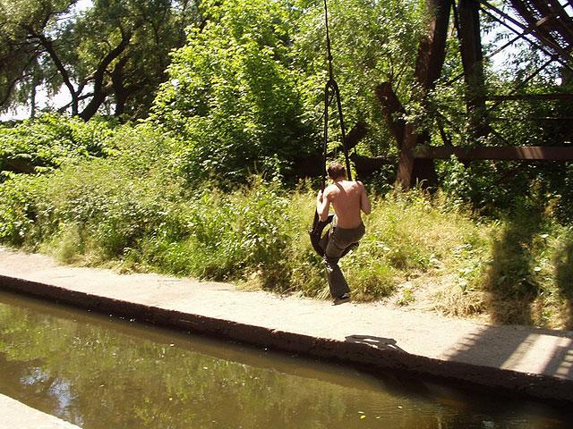 Река Лыбидь очень грязная и опасная